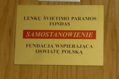 Tu urzęduje Prezes Stanisława Pieszko w DKP w Wilnie