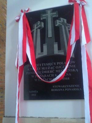 Tablica Ponarska przed odsłonięciem