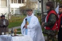 Ks. Dariusz w czasie kazania