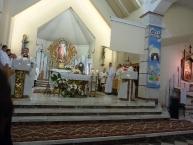 Msza św., z lewej Ks. Proboszcz