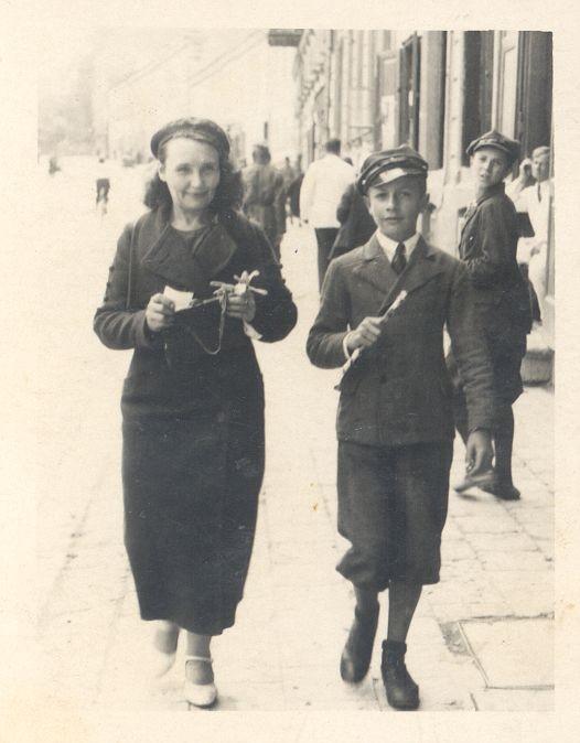 Czesio Mietkowski z mamą